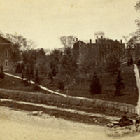 Oberlin College's Chapel and Tappan Hall, ca. 1860s
