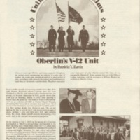 Article on Oberlin's V-12 Unit in the 1979 Commencement Exercises program