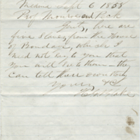Letter from H. G. Blake to Professors Monroe and Peck, 6 September 1858