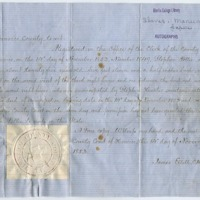 Manumission paper of 1853 and metal case