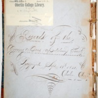 Record of the Young Men's Anti-Slavery Society, Oberlin College, 1851-1853